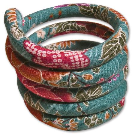 comprare on line 502b9 f1078 Grazioso Bracciale a spirale in tessuto di cotone Giapponese