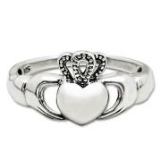 claddagh ring argento