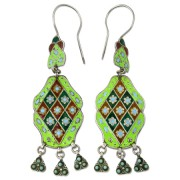 ethnic silver jewelry - earrings from Pakistan