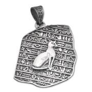 ciondolo egiziano stele gatto