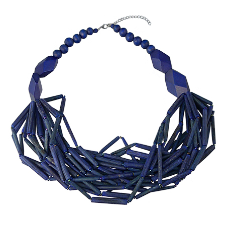 fashion design materiale selezionato davvero economico Collana blu moda
