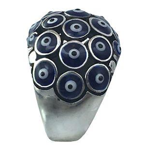 anello con occhi blu