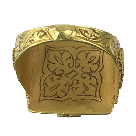 ethnic gold ring