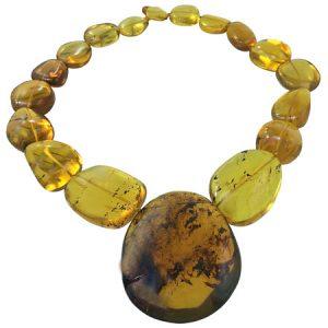 gioielli in ambra messicana naturale