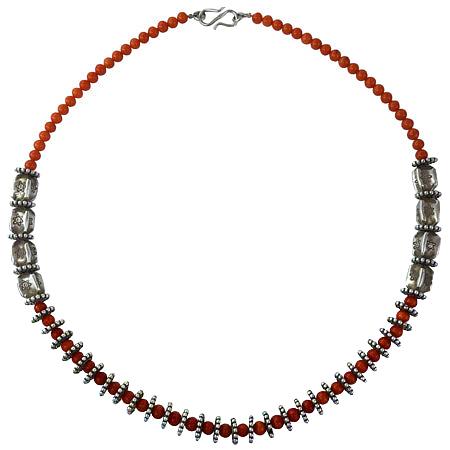 collane etniche corallo rosso