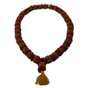 rosario con semi di rudraksha