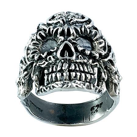 anillo calavera mexicana