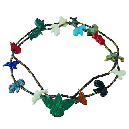 collana Zuni con animaletti