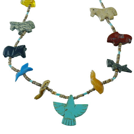Zuni fetishes Necklace