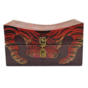 ethnic trunk box with tiger