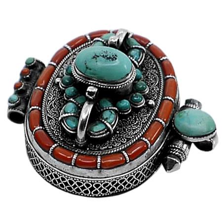 gioielli tibetani turchese corallo