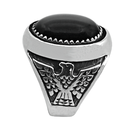 man ring with eagle
